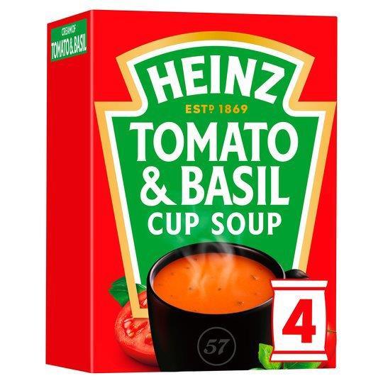 Heinz Cup Soup Tomato Basil 4pk (4 x 88g)