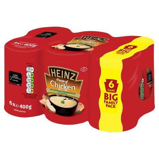 Heinz Soup Can Chicken 6pk (6 x 400g)
