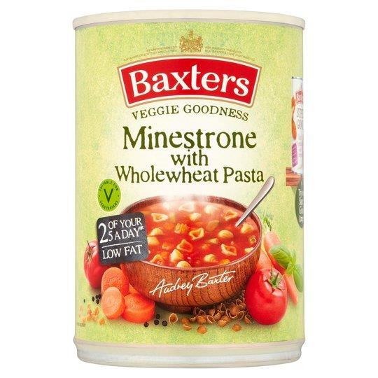 Baxters Veggie Goodness Minestrone With Wholemeal Pasta Can Soup 400g
