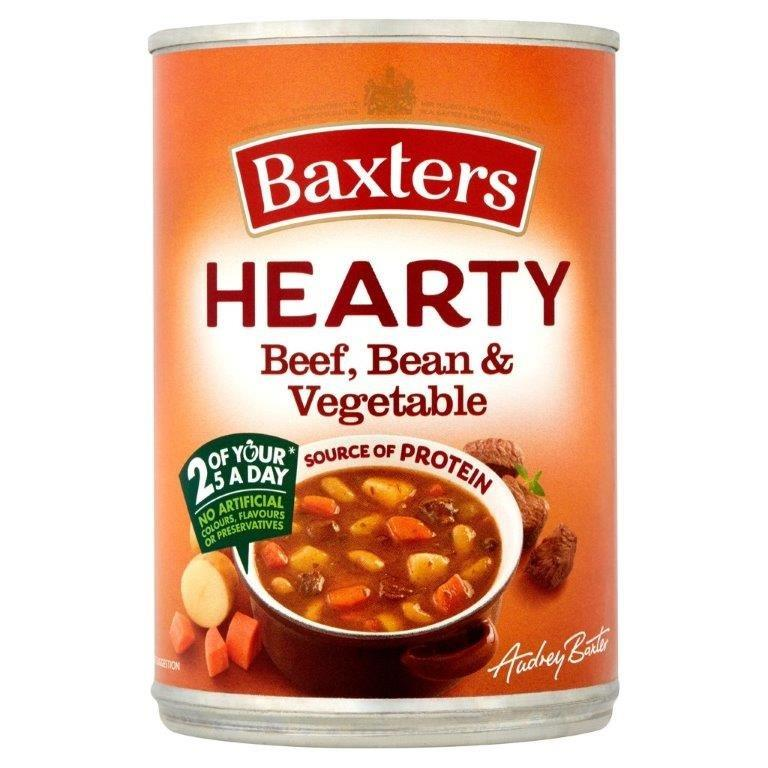Baxters Hearty Beef/Vegetable Can Soup 400g