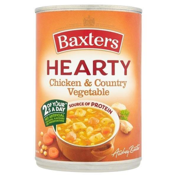 Baxters Hearty Chicken/Veg Can Soup 400g