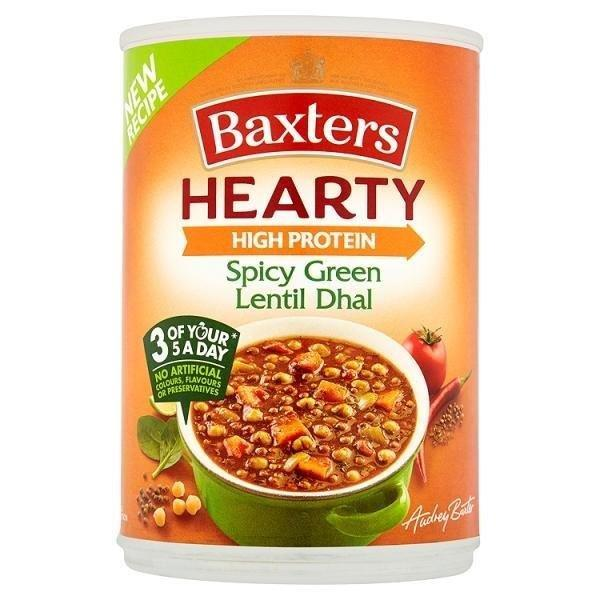 Baxters Hearty Spicy Green Lentil Dhal Can Soup 400g