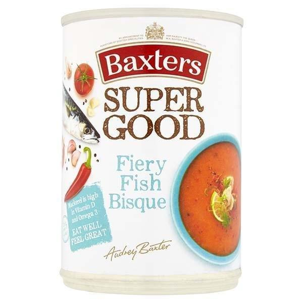 Baxters Super Good Fiery Fish Bisque Can Soup 400g