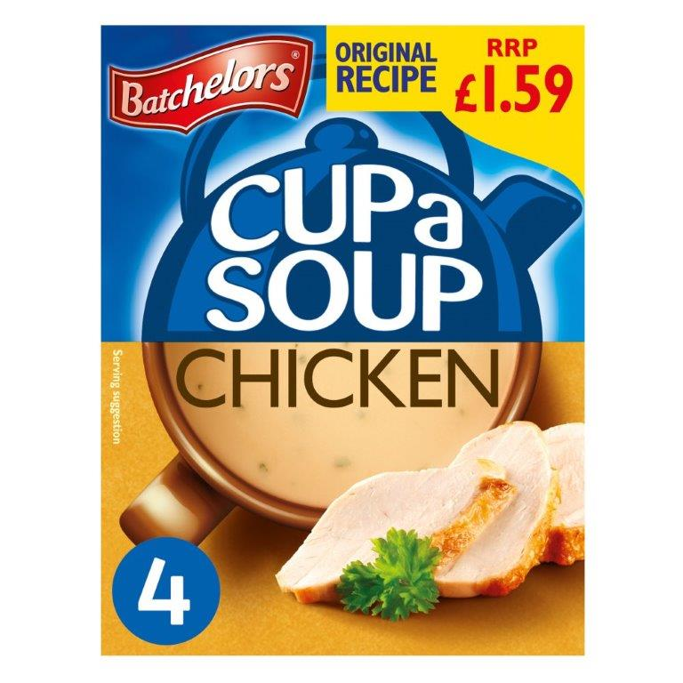 Batchelors Cup a Soup Sachets 4's Chicken 81g PM £1.59