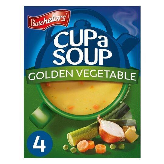 Batchelors Cup A Soup Sachets 4's Golden Veg 82g