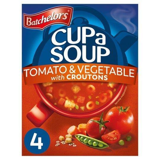 Batchelors Cup A Soup Sachets 4's Tom & Veg 104g