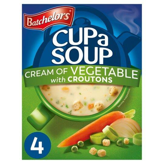 Batchelors Cup A Soup Sachets 4's Cream Of Vegetable 122g