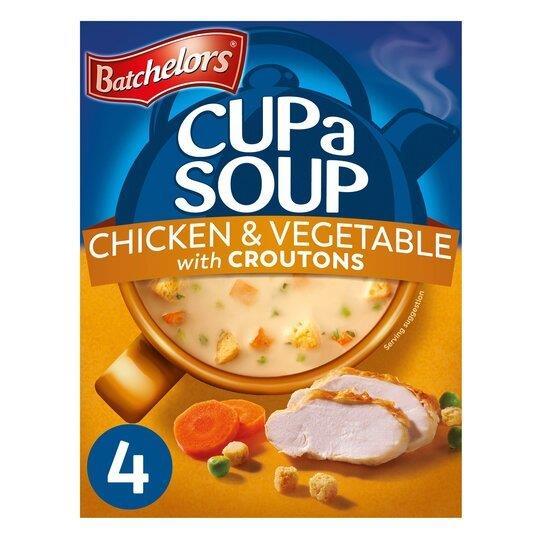 Batchelors Cup A Soup Sachets 4' Chicken & Veg 110g