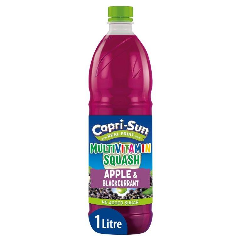 Capri-Sun NAS Multivitamin Squash Apple & Blackcurrant 1L NEW