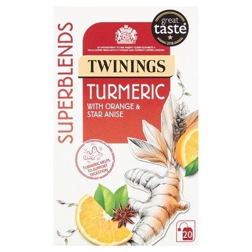 Twinings Superblends Tumeric Tea Bags 20's