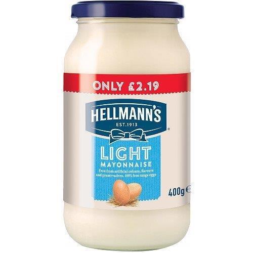 Hellmann's Mayo Jar Light 400g PM £2.19