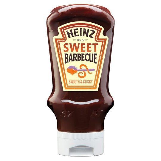 Heinz BBQ Sauce Sticky Top Down 500g