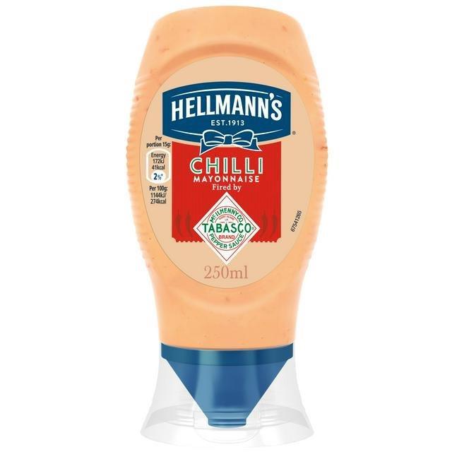 Hellmann's Squeezy Mayo Chilli 250ml
