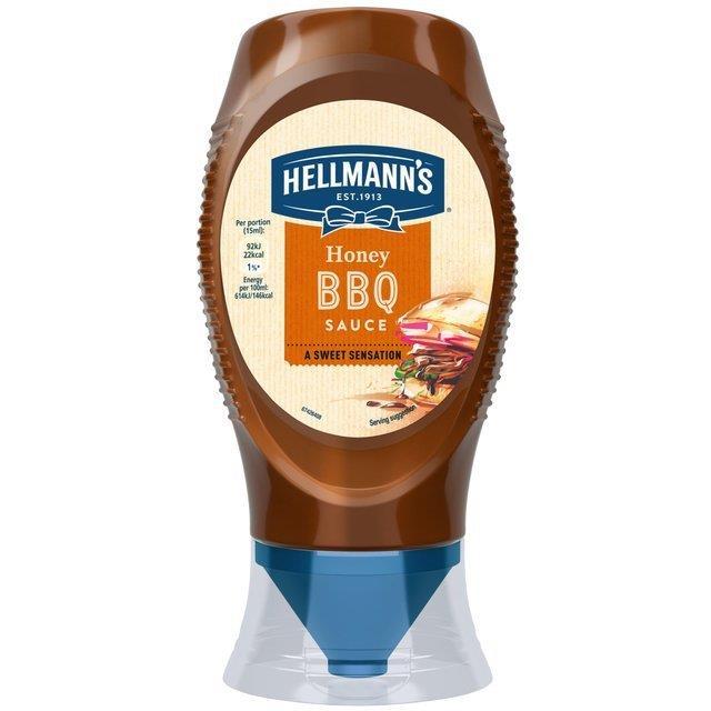 Hellmann's Squeezy Honey BBQ Sauces 250ml