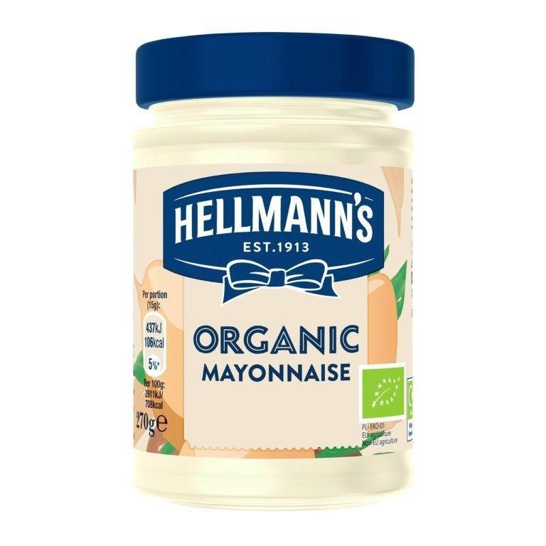 Hellmanns Organic Mayo Organic 270g