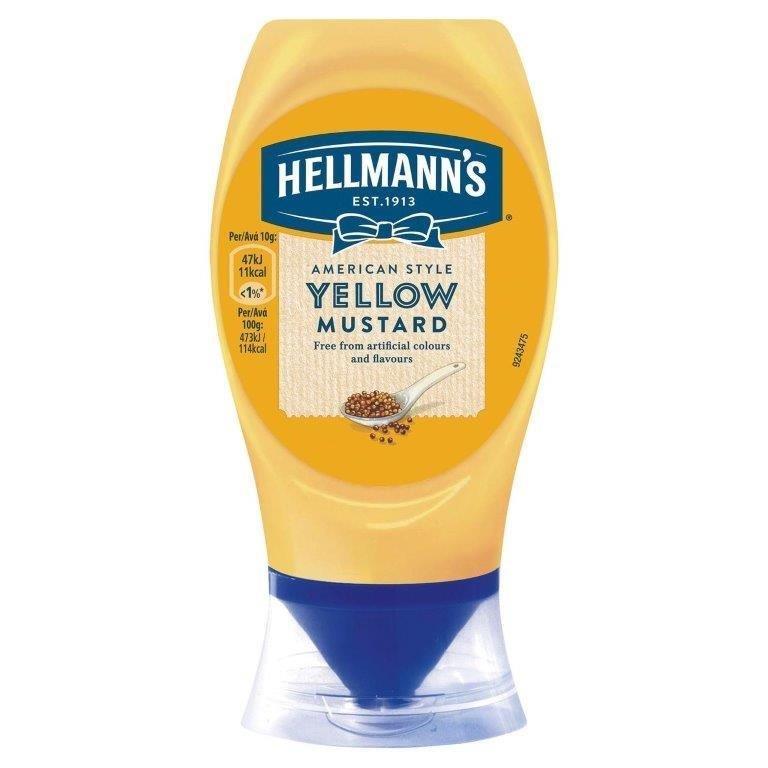 Hellmann's Squeezy Yellow Mustard 260g