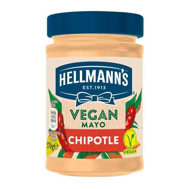 Hellmans Vegan Mayo Pot Chipotle 270g NEW