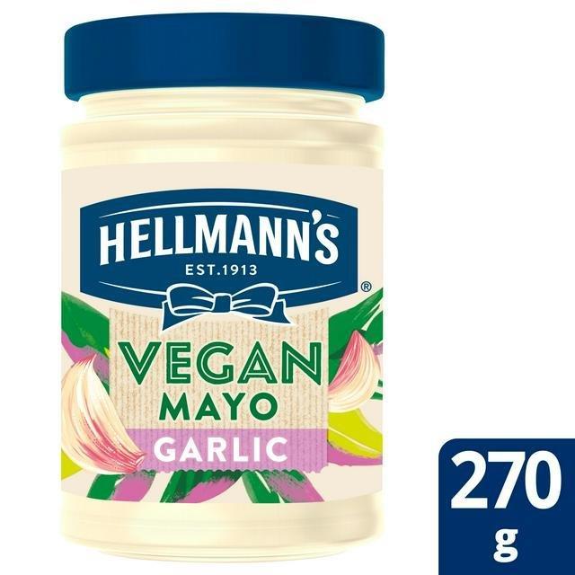 Hellmans Vegan Mayo Pot Garlic 270g NEW