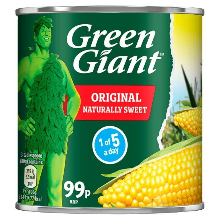 Green Giant Sweetcorn 340g PM 99p
