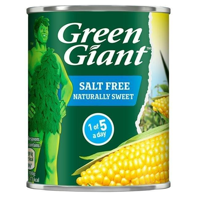 Green Giant Sweet Corn Salt Free 198g