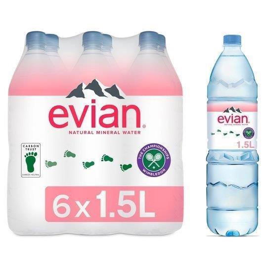 Evian PET 1.5L Shrink-Wrap 6pk (6 x 1.5L)