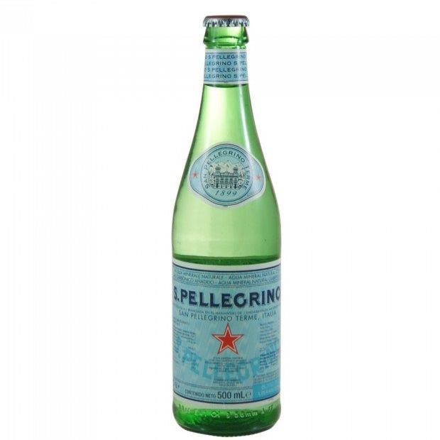 San Pellegrino Natural Sparkling Water Glass 50cl (Australian Label)