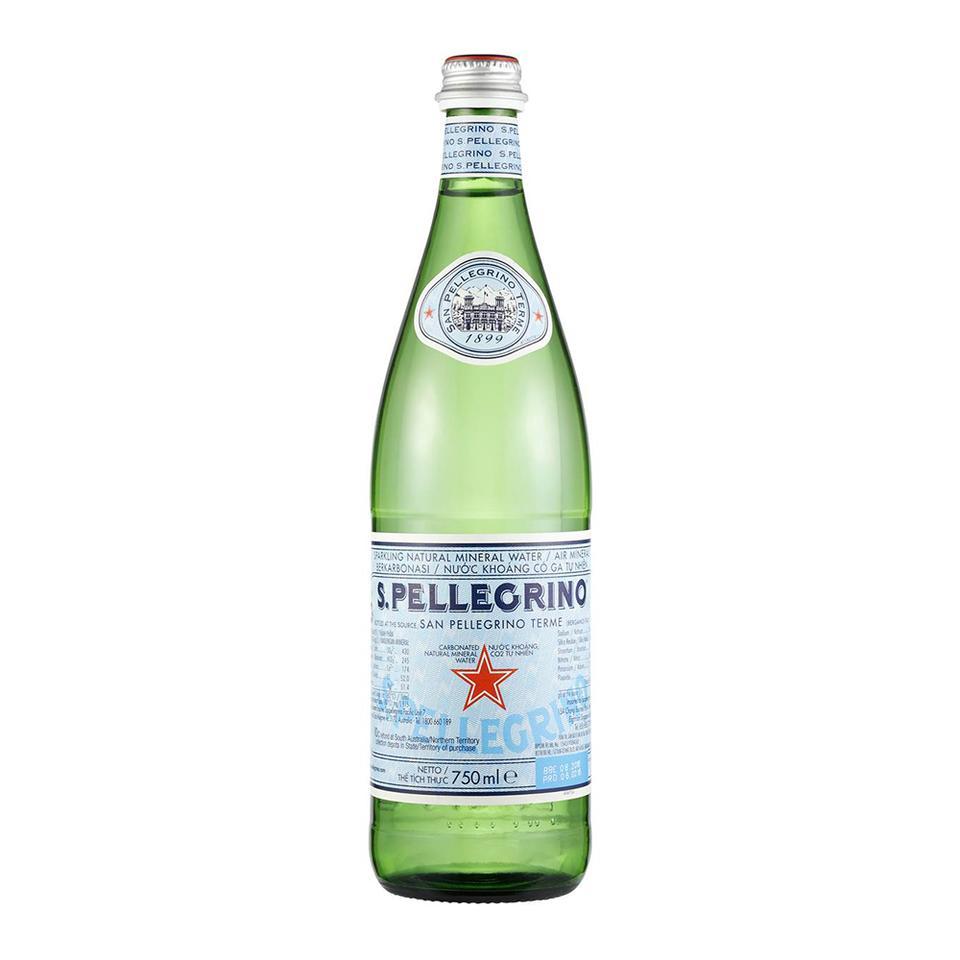 San Pellegrino Natural Sparkling Water Glass 75cl (Australian Label)