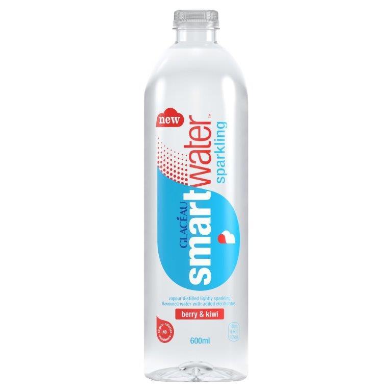 Glaceau Smartwater Sparkling Berry & Kiwi PET 600ml