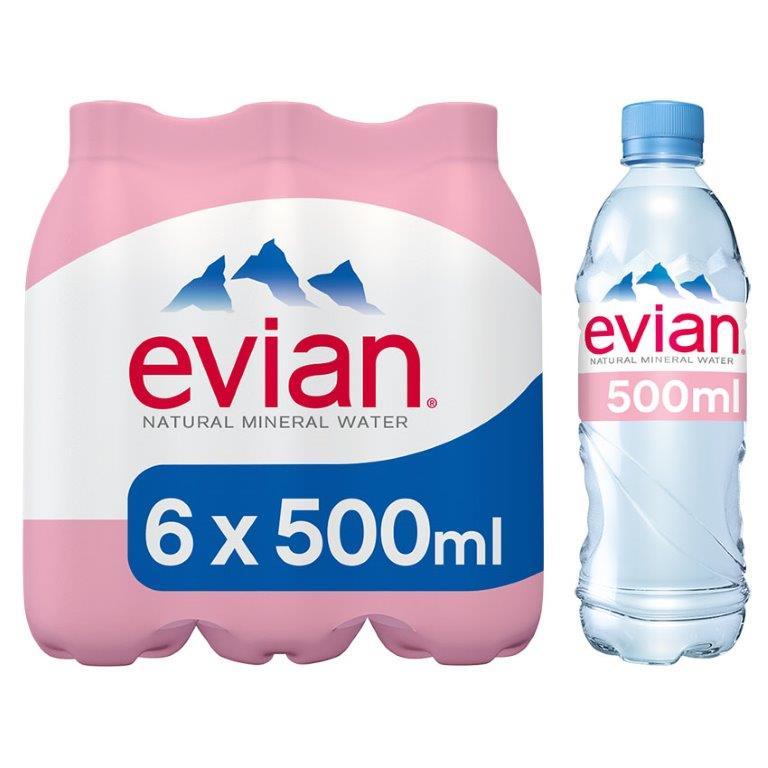Evian PET 6pk (6 x 500ml)