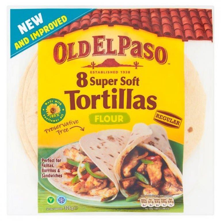 Old El Paso Flour Tortillas 8's