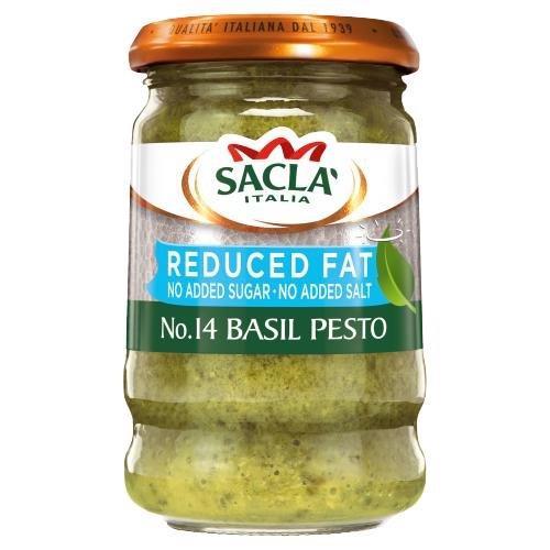 Sacla Reduced Fat Basil Pesto 190g